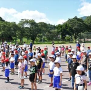 夏休み一番乗り 高山村の小中学校