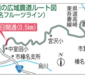 通称榛名フルーツライン 14.1キロ全面開通