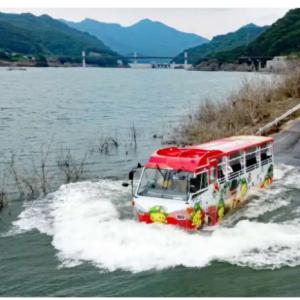 八ッ場ダム湖の水陸両用バスを無人運転に