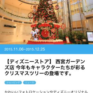 クリスマスツリー登場! ディズニーストア阪急西宮ガーデンズ店