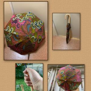 アフリカ布の日傘、人気記事にランクインしました(^^)
