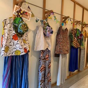 今日から開催アフリカ布の展示会