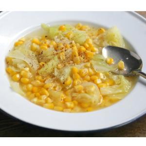 シンプルが美味しっ!とうもろこしの塩バタースープ