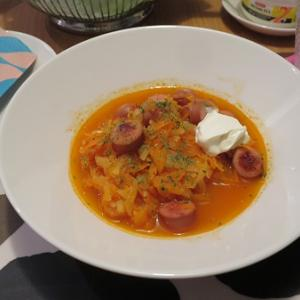 火曜ウチごはん~乳酸キャベツのスープ♪