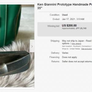 まさかの落札、ケン・ジアニーニのハンドメイドパター Ken Gianini's handmade putter that has won the bid