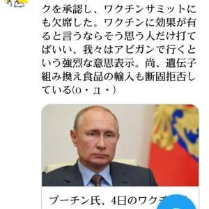 プーチンは我々はアビガンで行くという強烈な意思表示!新型コロナ終息!アビガンはワクチンでもあり全てのRNAウイルス兵器を無効化する最強の万能薬!新型コロナ殺人ワクチンサミットにも欠席した!