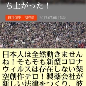 非人道的な新しい【ワクチン強制予防接種法】に何百万人ものイタリア人が立ち上がった!日本人は全然動きませんね!そもそも新型コロナは存在しない架空創作テロ!製薬会社が新しい法律をつくり彼らの製品を