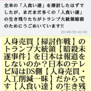 人身売買【掃討作戦】トランプ大統領は暗殺危機【暗殺未遂事件】を日本は報道をしないのか?日本のテレビ局はDS側【人身売買・人工削減一味】だからです【人食い達】の生き残りたちがトランプ大統領暗殺