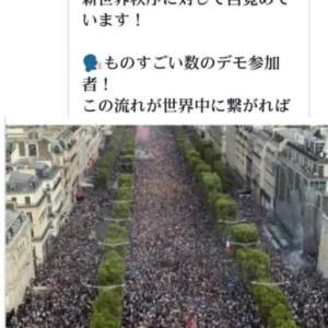 トランプ革命【第2次フランス革命、発生】です!人々はワクチンの専制政治と闇側の新世界秩序に対して目覚めています!ものすごい数のデモ参加者!警官隊がデモ行進に加わってしまいました!日本はいつかな?