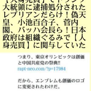 史上初!東京五輪開催主役たちが【影武者】だらけ!各国首脳出席者らも【人身売買】でトランプ大統領に逮捕処分されたレプリアンだらけ!偽天皇、小池百合子、菅内閣、バッハ会長ら!日本政府は組織ぐるみで