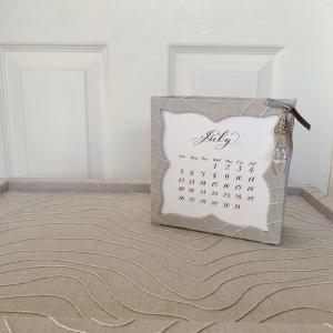 【展示会作品】カリグラフィーとコラボ作品 カレンダー文字入れとフレーム