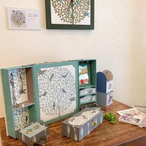 【展示会作品】布箱とタイル展 作品レポ6 鳥シリーズ生地作品