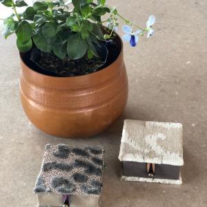 【カルトナージュ作品】 生徒さんの作品 アクセサリー小箱