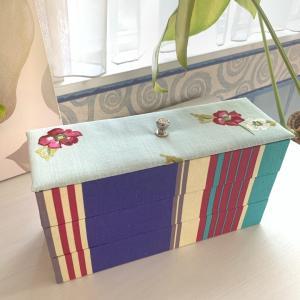 【レッスン風景】生徒さんの作品 蓋付きの箱&カトラリーボックス