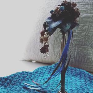 【レッスン風景】お花とコラボ作品 支柱トレースタンド