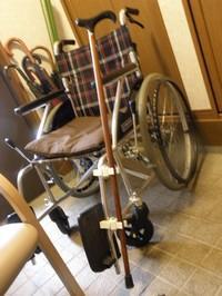 杖と車椅子
