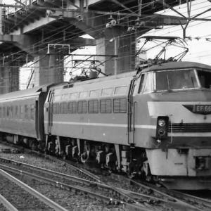 宮原操車場到着するEF66牽引25系回送