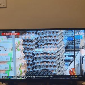 韓国の物価、上昇中。