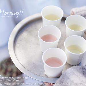 青空の下、目覚めのお茶はローズマリーとカルダモン。sony α7R IV + SEL55F18Z 実写 #東京蚤の市