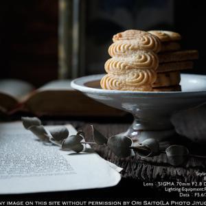 うつわとおやつと:菓子屋シノノメのはちみつクッキーを古谷製陶所のコンポート ProfotoA1x + シグマ 70mm F2.8 DG MACRO | Art + sony α7RIV