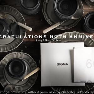 SIGMA 60 th Anniversary ハンカチ 頂戴しました #SIGMA #カメラ#写真 #ProfotoA1x #テーブルフォト