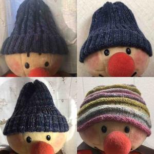 ニット帽色々編みました