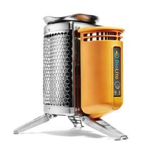 たき火で発生した熱を電気に変換できるキャンピングストーブ