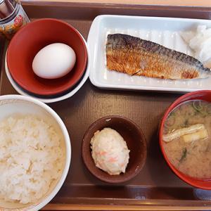 健康を考えて・・・ すき家で初のさば朝食