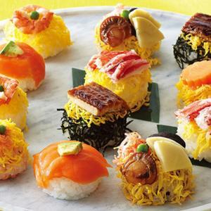 ゆしま扇「ちらし寿司」穴子やサーモンの海鮮のせ!小ぶりサイズで華やかな詰め合わせ