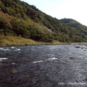 球磨川で納竿しよう・・・