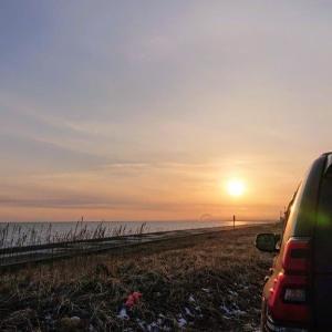 苫小牧の夕陽が綺麗