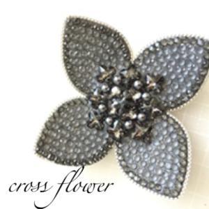 Cross flower ブローチレッスン ✿
