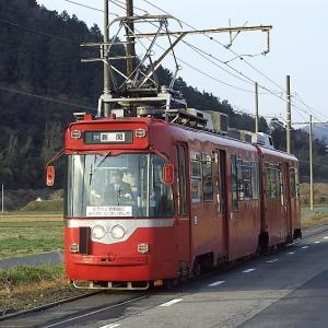 名鉄美濃町線モ870型と札幌市交通局A830
