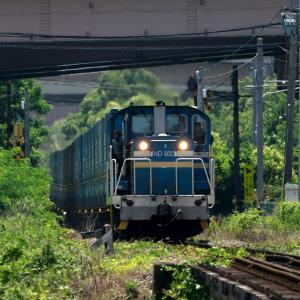 貨物列車の写真を撮影してきました、と熱中症