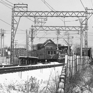 40年数年前の雪の日 名鉄瀬戸線