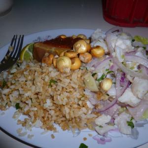クスコで食べたペルー料理 セビーチェとフライドライス