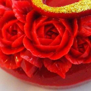 赤いバラ。