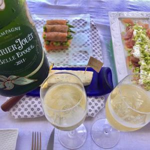 """ペリエジュエで小さなお祝い/ Sunday BBQ Lunch, Theme """"Seafood""""."""
