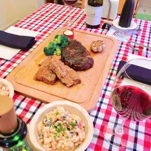 ちょっと早いけど独立記念日ディナー/ 4th of July Dinner at home