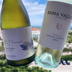 オージーピノグリ vs アメリカンピノグリ/ Yalumba Pinot Grigio vs Edna Valley Pinot Grigio