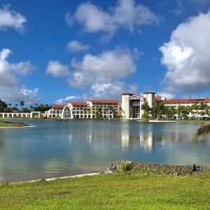久しぶりのジョギング/ Flowers & Plants at Leo Palace Resort Guam