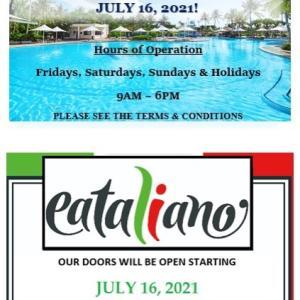 レオパレスリゾートグアムのイータリアーノがやっと一般客にも再オープン!/ Eataliano in Leo Palace Resort Guam Re-Opens