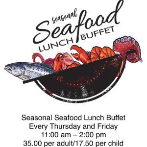 ルーツヒルズ グリルハウスのシーズナルシーフードランチバフェ/ Seasonal Seafood Lunch Buffet at Rootz Hill's Grill House, Guam Plaza Resort & Spa