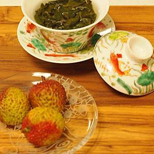 待望のライチ&毫香碧緑茶