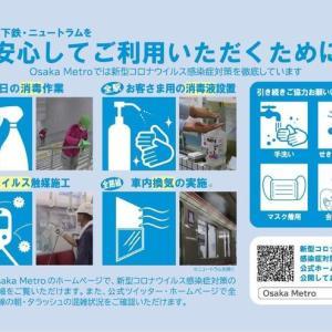 大阪メトロ、新型コロナウイルス感染対策をポスターで掲示へ