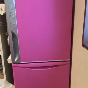 4年ぶりに塗り替えた冷蔵庫