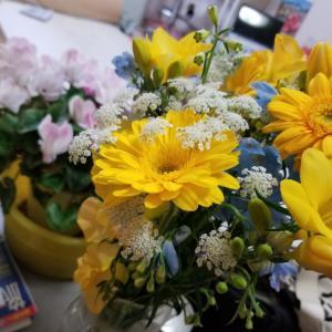 誕生日の花束を