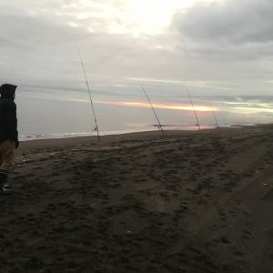 鮭釣り初戦 初めての経験
