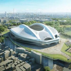新国立競技場の完成予想図