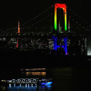 東京の夜景スポット。お台場から眺めるレインボーブリッジと東京タワーがおすすめ!